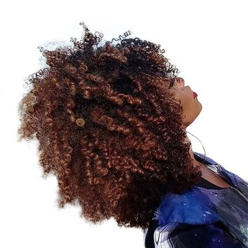 Mongolian Afro Kink Curly 13x4 Lace Frontal Closure With Baby Hair Pre Plucked Remy Weave Human Hair