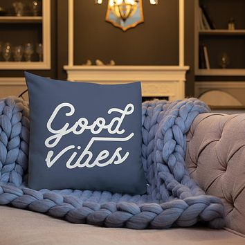 Good Vibes 18 x 18 Inch Throw Pillow