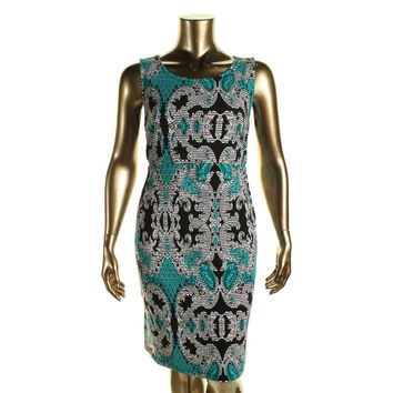 JM Collection Womens Plus Printed Sleeveless Casual Dress