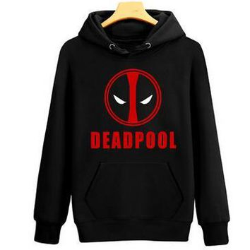 2016 Deadpool Hoodie Marvel Comic Wade Wilson Hooded Sweatshirt Zipper Jacket Winter 3D Hoodies Anime Cosplay Hoodies