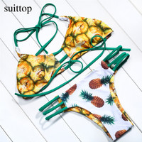 halter swimwear lace up swim suit beach wear