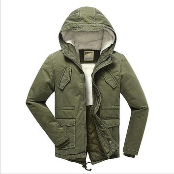 2016 Boys Winter Coat Outerwear Plus Velvet Warm Parka Wadded Jackets Fashion Hooded Solid Chilldren's Overcoat High Quality
