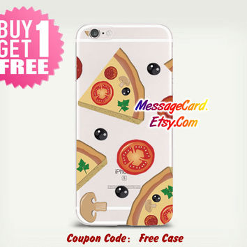 Pizza Clear Phone Case for iPhone 6 6s plus 6 6s 5s 5 4s 4 , Ctystal Clear iPhone 6 6s Case , Custom Clear iPhone 6 6s Case , Transparent