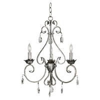 Arlington 2-Light Chandelier in Weathered Silver