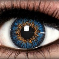 Diamond Blue Star Colored Contacts by ExtremeSFX