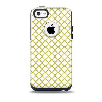 The Yellow & White Seamless Morocan Pattern V2 Skin for the iPhone 5c OtterBox Commuter Case