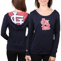 St. Louis Cardinals Women's Navy Blue Sublime Pullover Hoodie