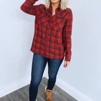 Playful In Plaid Top: Multi