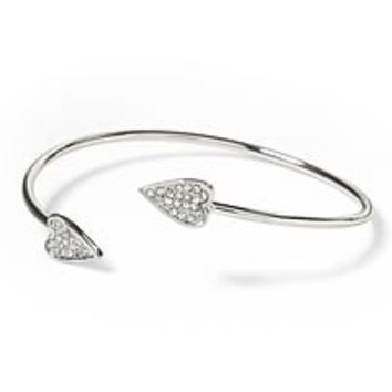 Pave Heart Bangle|banana-republic