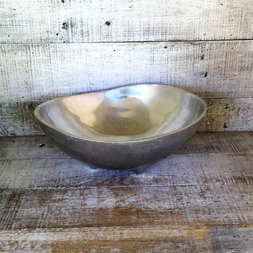 Large Bowl Danish Modern Bowl Large Footed Bowl Armtale Metal Bowl Mid Century Bowl Centerpiece Base Fruit Bowl Large Serving Bowl