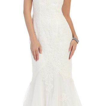 Wedding Dress Long Plus Size Gown