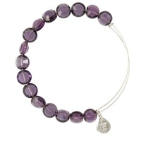 Amethyst Luxe Bead Bangle