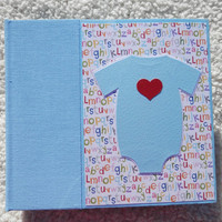 6x6 Primary Colored Baby Boy Scrapbook Album