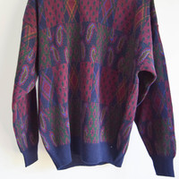 Vintage 90s Mens Cosby Sweater Grunge Womens / Retro Jumper
