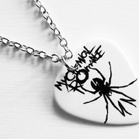 Guitar Pick Necklace: My Chemical Romance Necklace - MCR Necklace - MCR Jewelry - My Chemical Romance Jewelry