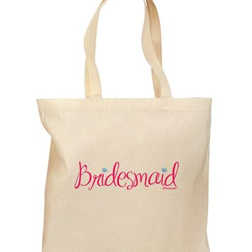 Bridesmaid Design - Diamonds - Color Grocery Tote Bag