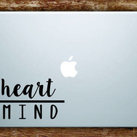Heart Over Mind Laptop Apple Macbook Quote Wall Decal Sticker Art Vinyl Beautiful Inspirational Motivational