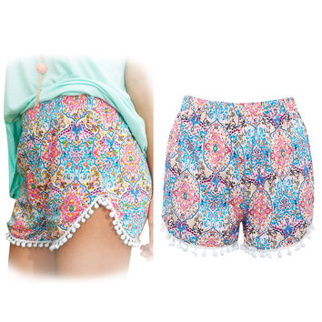 Summer Stylish Fashion Print Shorts [6461449153]
