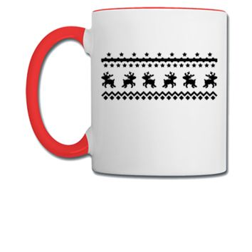 christmas pattern reindeer - Coffee/Tea Mug