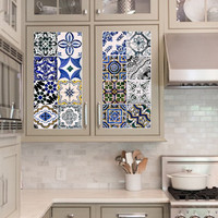 Vinyl decal sheet - Tile Decals - Tile decals for Kitchen or Bathroom Mexico, Morocco, Portugal, Spain, Mosaic #4