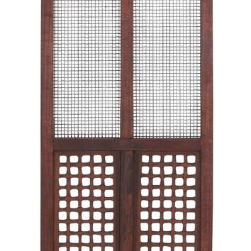 Rectangular Metal And Wooden Wall Panel With Elegant Design