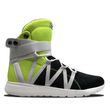 Neon Yellow/Black Super Freak Hightop Cardio Sneaker