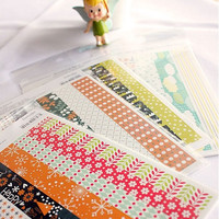 Kawaii 2 sheets Korean Masking Seal sticker/Cute sticker pack/2sheets deco stickers/rainbow market stickers