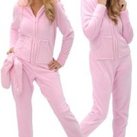 Women`s Footed Pajamas, Hooded, One Piece Pajamas with Zip-off Feet, Sizes Small to 3X $59.99