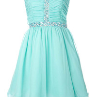 Cute rhinestones mini prom dress / homecoming dress