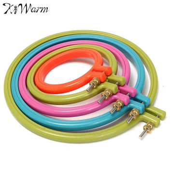 1Pcs Plastic Frame Embroidery Hoop Ring Circle Round Loop For CrossStitch DIY Hand Needlecraft Household Craft Sewing Tools