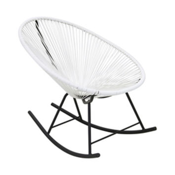 Shop Plata Import Acapulco Modern White Vinyl Rocking Chair at Lowes.com