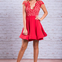 A Touch Of Elegance Dress, Red