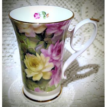 Royal Patrician Bone China Mug Misty Rose Pattern Made in England - Only 2 Available!