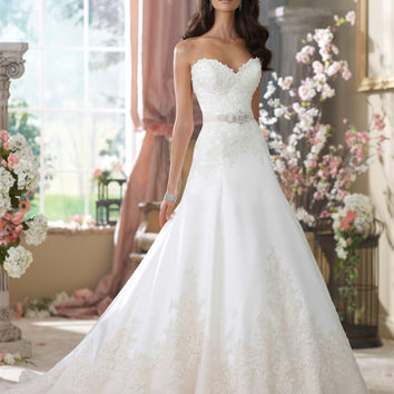 Chic White Tull Lace Wedding Dress 2016 New Arrival Off The Shoulder Sweetheart Neckline Sexy Bridal Gowns Vintage Wedding Dress