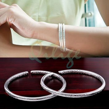 Fashion 2015 Bohemian Silver Sterling Women Fashion Bracelet Silver Women Girl Jewelry  (Color: Silver) = 1928680708