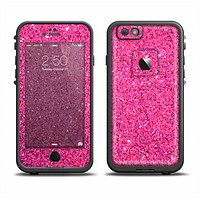 The Pink Sparkly Glitter Ultra Metallic Apple iPhone 6 LifeProof Fre Case Skin Set