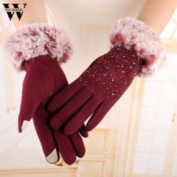 2016 Fashion  Gloves Winter Warm Wrist Gloves women Mitten Amazing Drop Shipping