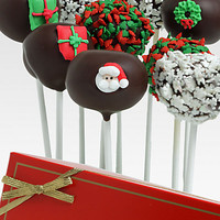 Belgian Chocolate Dipped Christmas Cake Pops