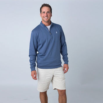 1/4 Zip Pullover in Pacific Blue by Johnnie-O