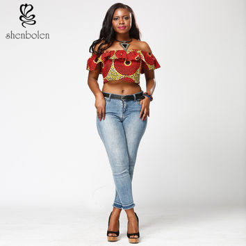 Off-shoulder Dashiki Blouse