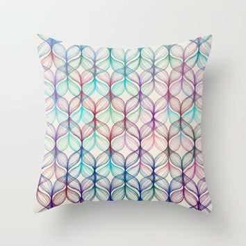 Mermaid's Braids - a colored pencil pattern Throw Pillow by Micklyn