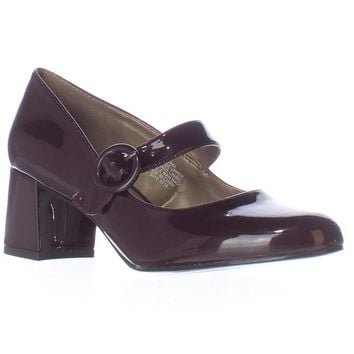 Bandolino Onni Mary Jane Heels, Wine, 9 US