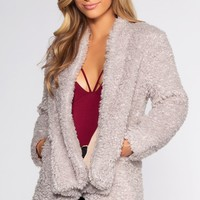 Bailey Fur Coat - Pearl Gray
