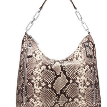 Michael Michael Kors Python Embossed Matilda Large Shoulder Bag