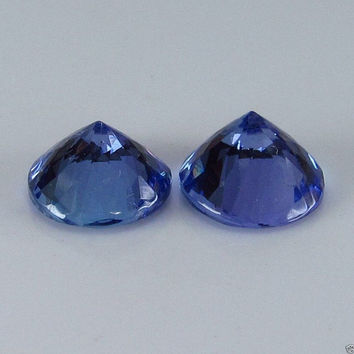 Tanzanite 7 mm Round Shape Over 2.53 Carats December Birthstone for Fine Jewelry Ring or Pendant