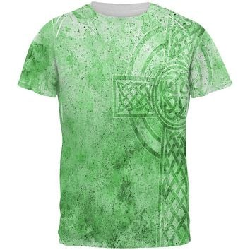St. Patricks Day Dirty Irish Celtic Cross All Over Mens T Shirt