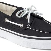 Sperry Top-Sider Bahama Varsity 2-Eye Boat Shoe Black, Size 8.5M  Men's