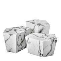 White Marble Coffee Table Set | Eichholtz Prudential