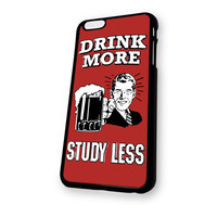 Beer Drink More Study Less Vintage MB iPhone 6 case