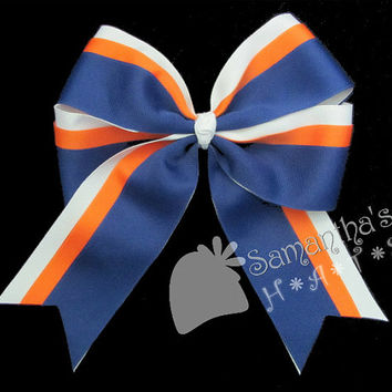 Softball Hair bow - Made to order in your team colors